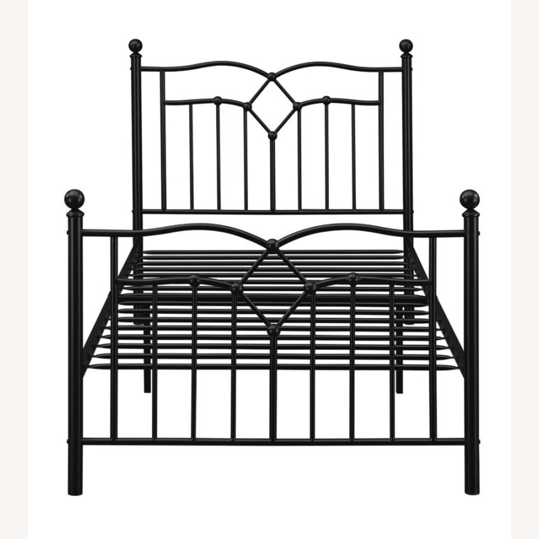 Twin Bed Constructed In Black Metal Steel Tubing - image-1