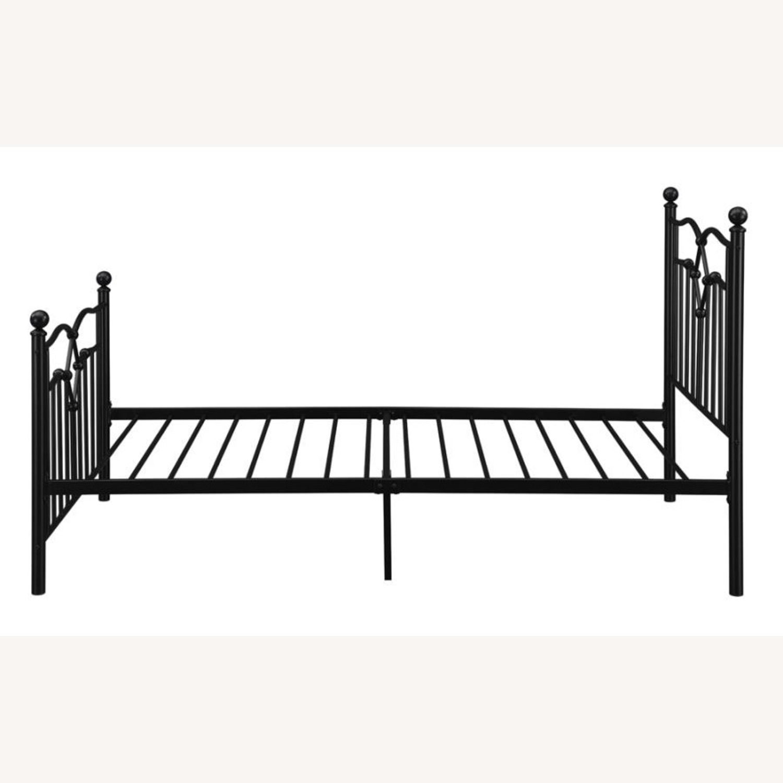 Twin Bed Constructed In Black Metal Steel Tubing - image-4