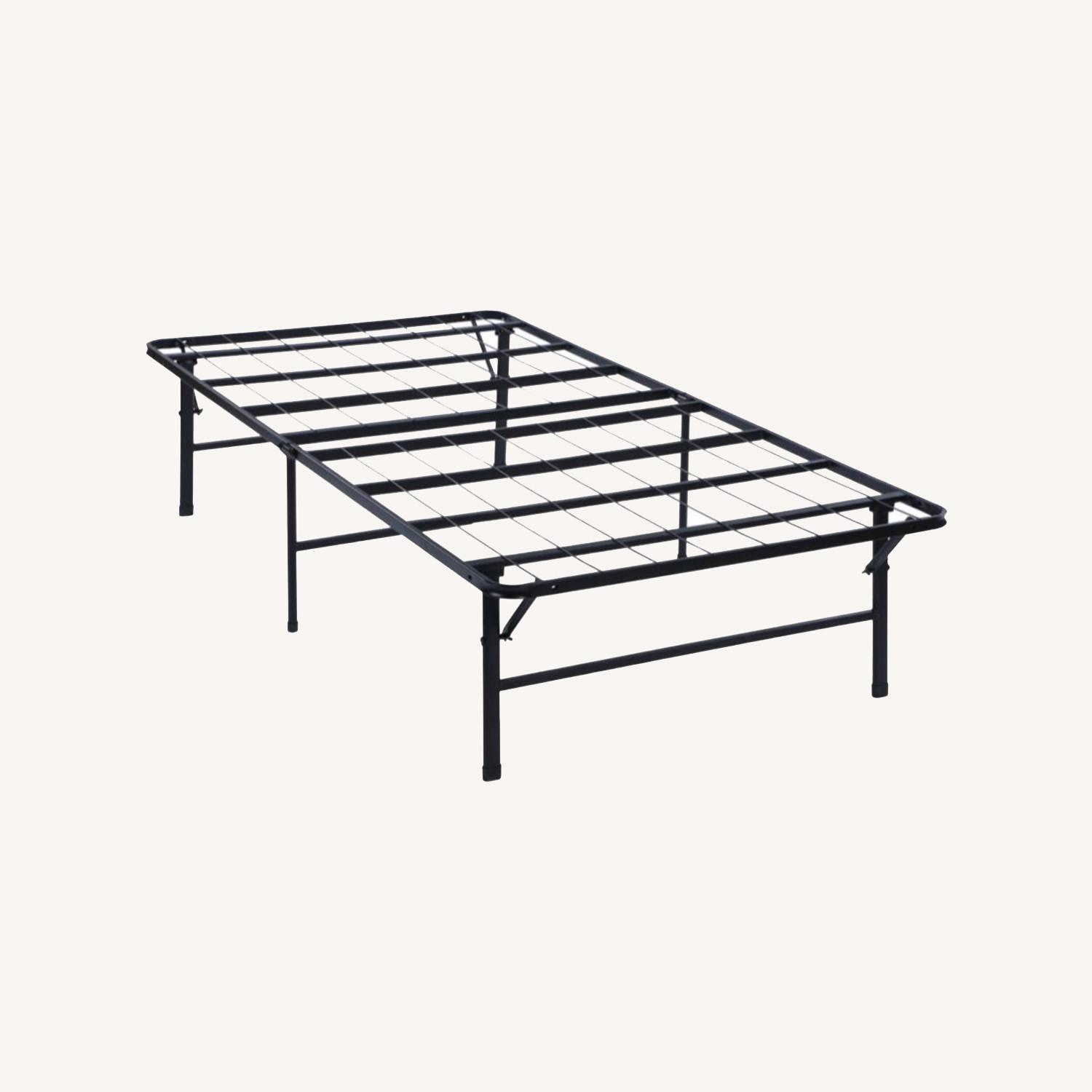 Twin XL Platform Bed In Black Powder Coated Finish - image-7