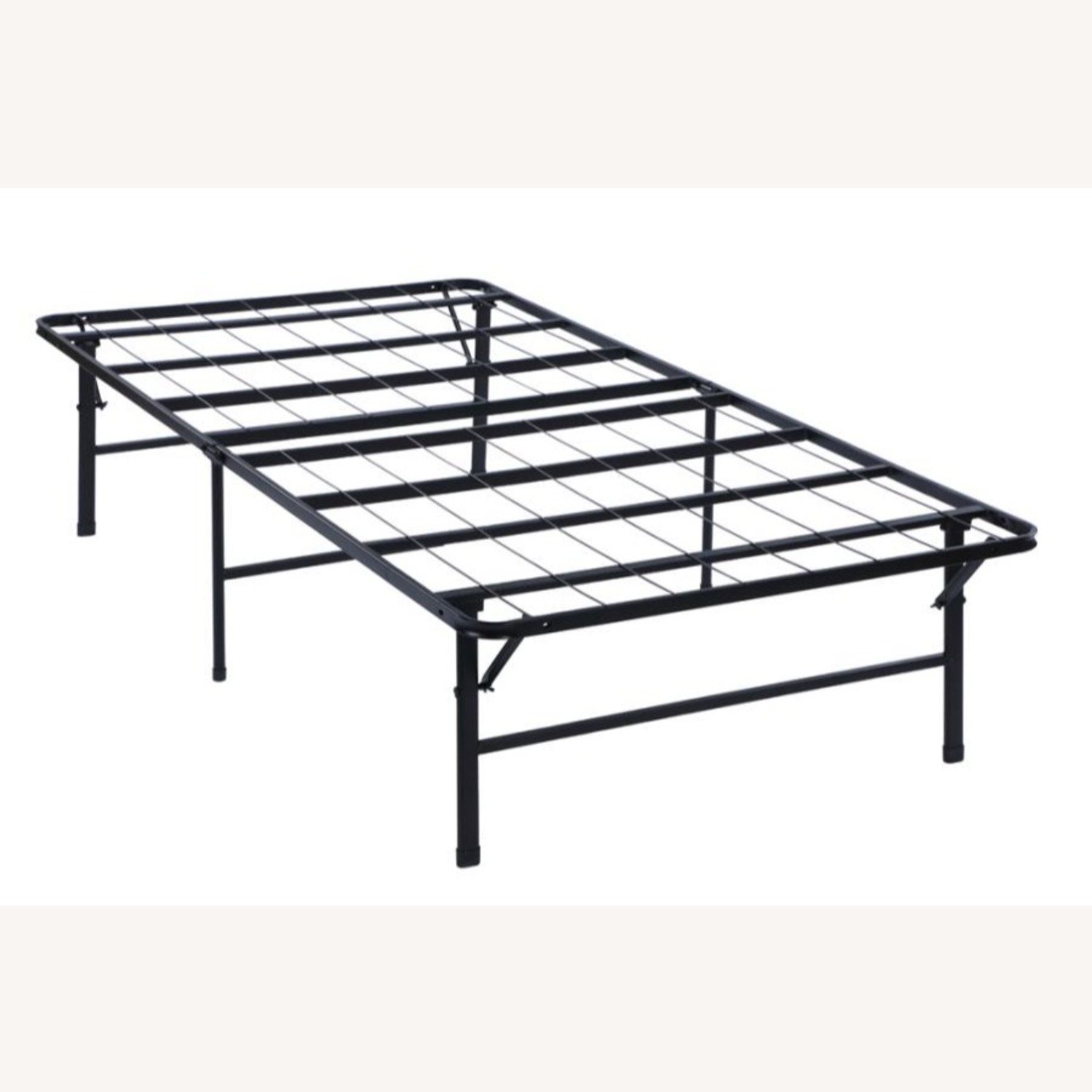 Twin XL Platform Bed In Black Powder Coated Finish - image-0