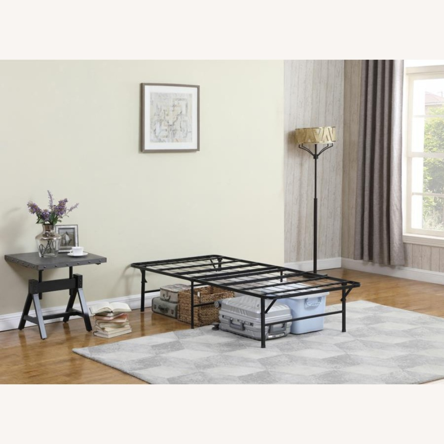 Twin XL Platform Bed In Black Powder Coated Finish - image-5