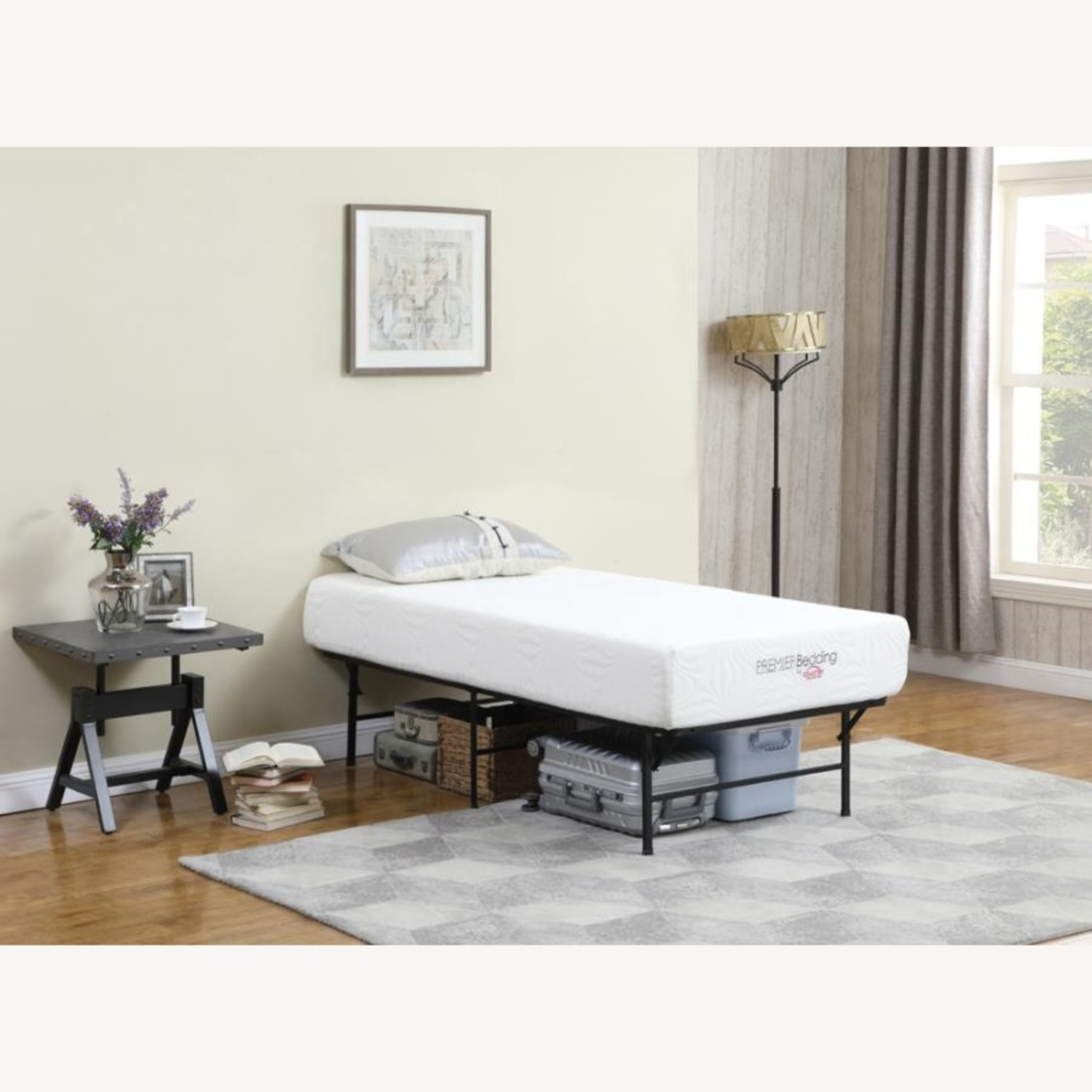 Twin XL Platform Bed In Black Powder Coated Finish - image-6