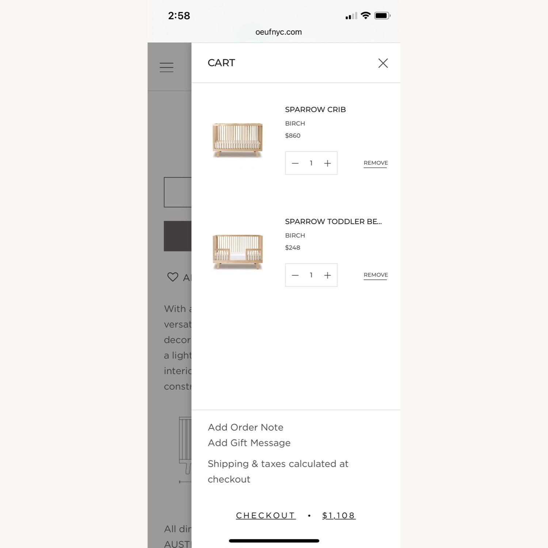 Oeuf Sparrow Crib + Conversion Kit - image-6