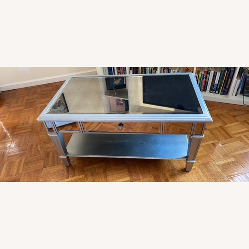 Used Pier 1 Mirror Coffee Table, Hayworth Collection for sale on AptDeco