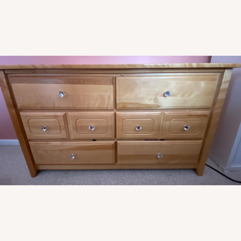 6 Drawer Natural Wood Dresser - image-0