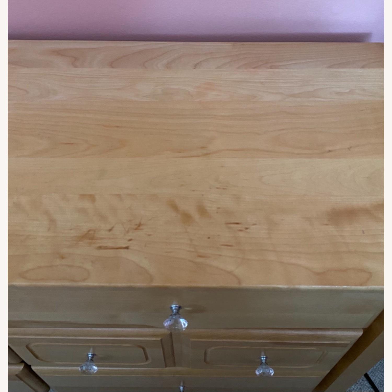 6 Drawer Natural Wood Dresser - image-4