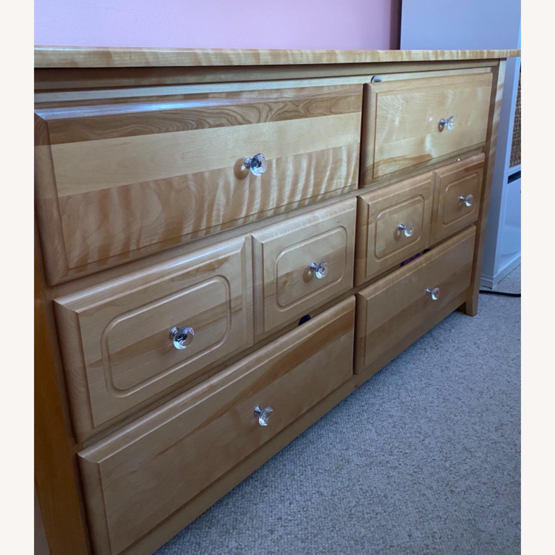6 Drawer Natural Wood Dresser - image-2
