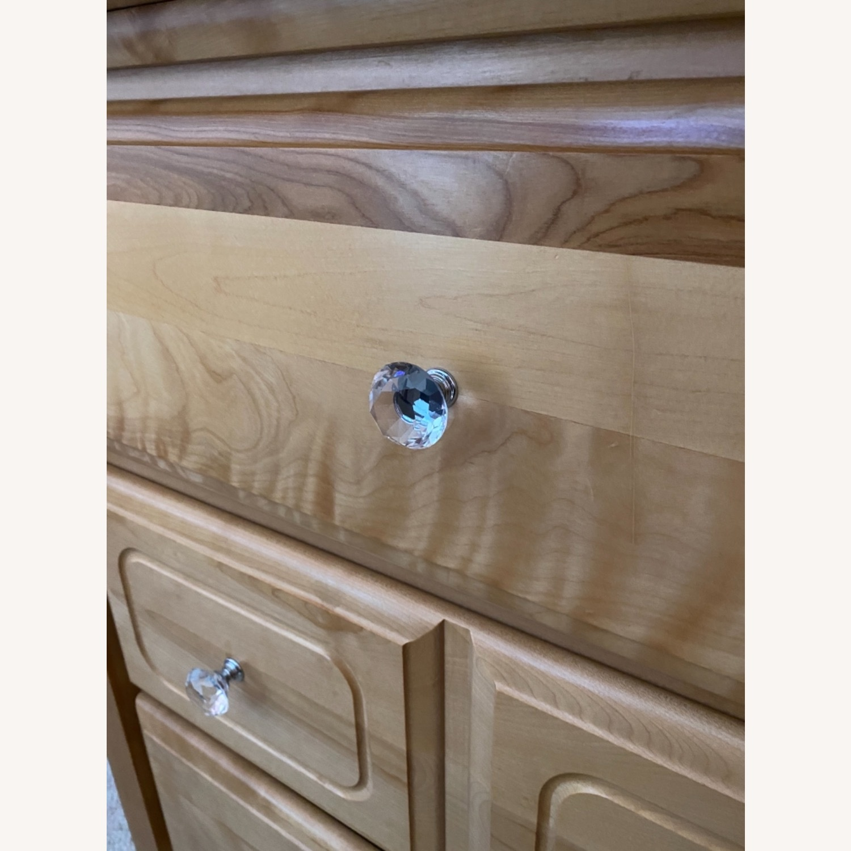 6 Drawer Natural Wood Dresser - image-5