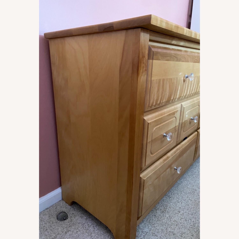 6 Drawer Natural Wood Dresser - image-3