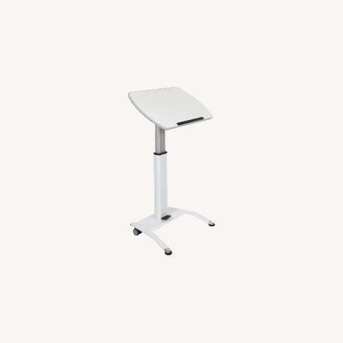 Used Luxor White Standing Desk for sale on AptDeco
