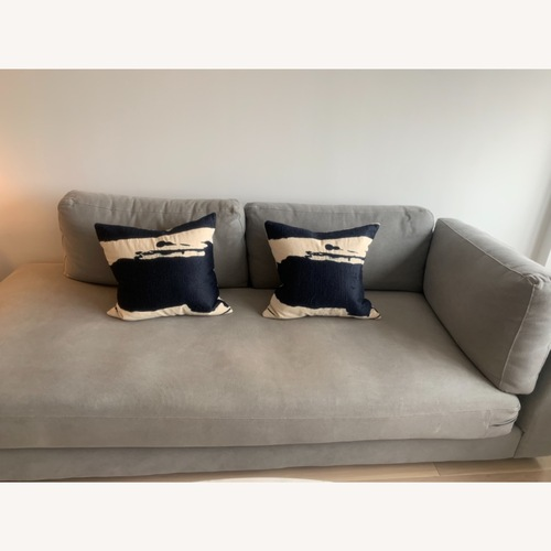 Used West Elm Dove Gray Haven Sectional - 1 half for sale on AptDeco
