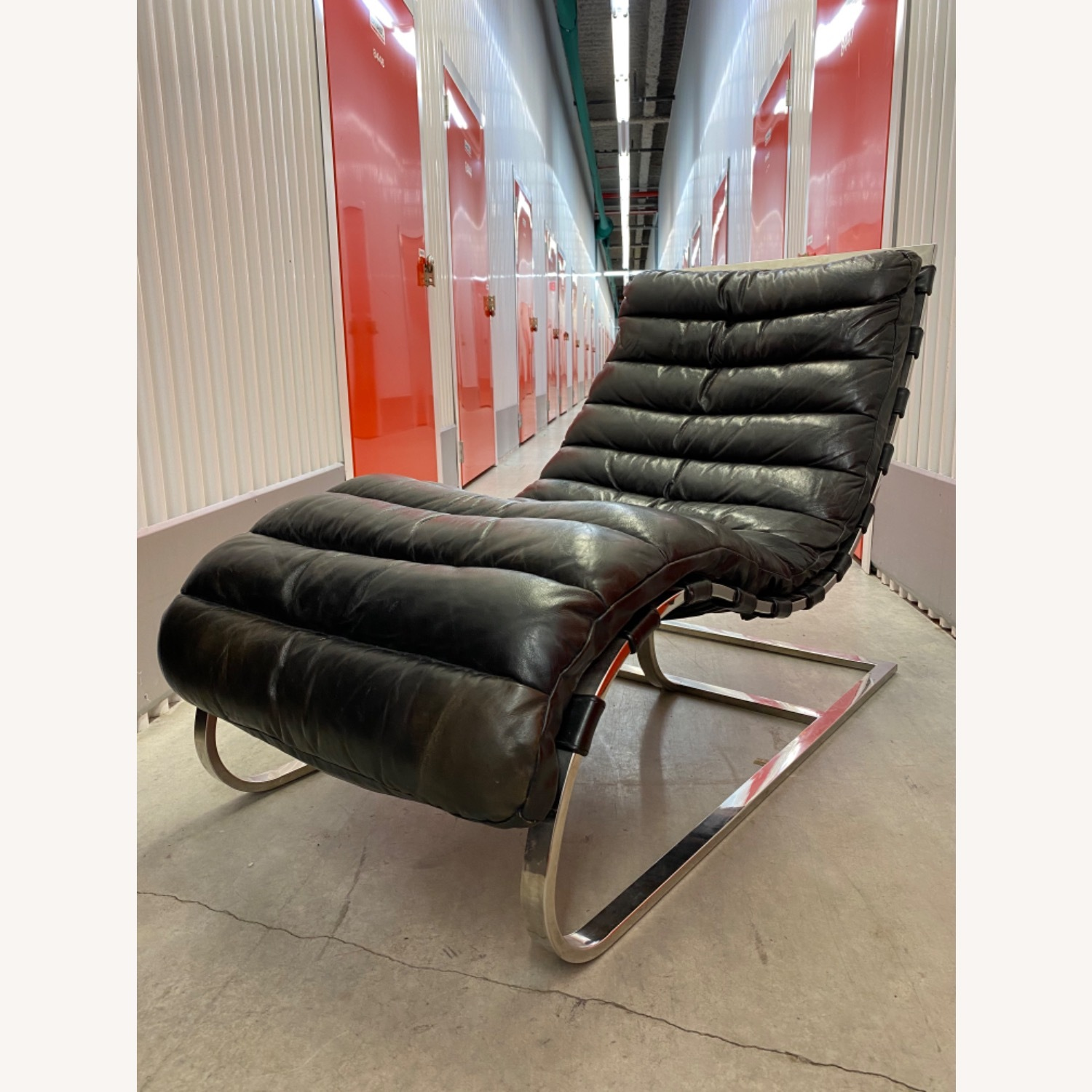 Leather Chaise Lounge by Timothy Oulton - image-7