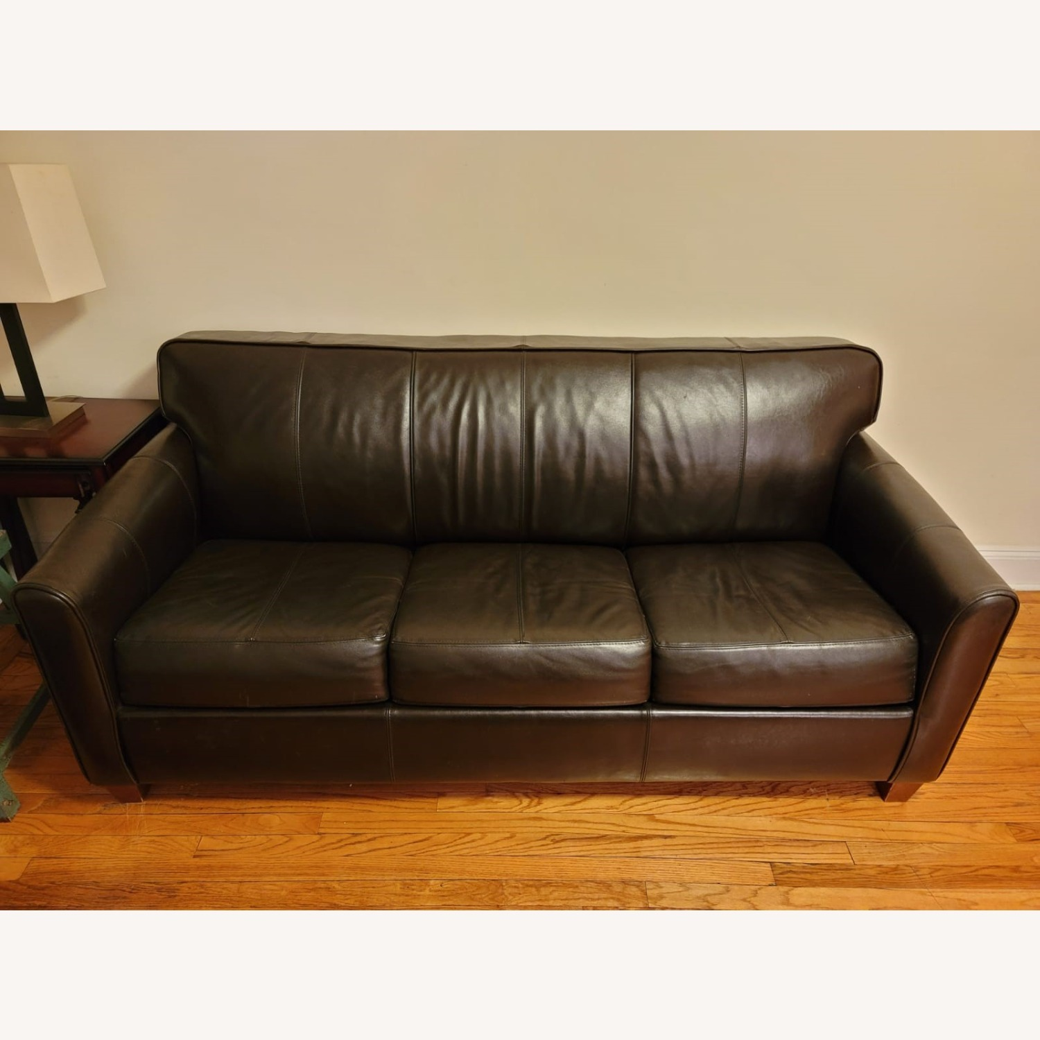Dark Brown Sleeper Sofa - image-1