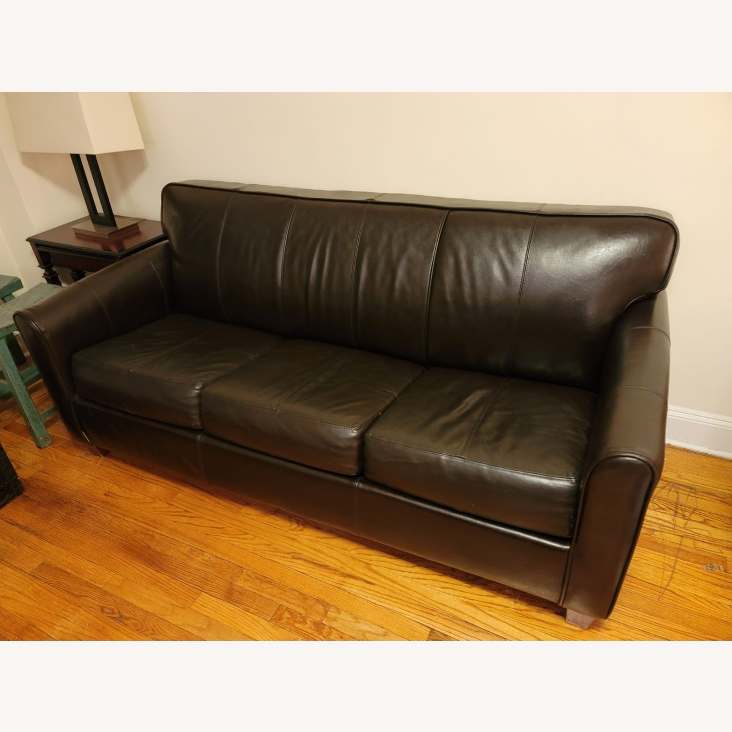 Dark Brown Sleeper Sofa - image-2