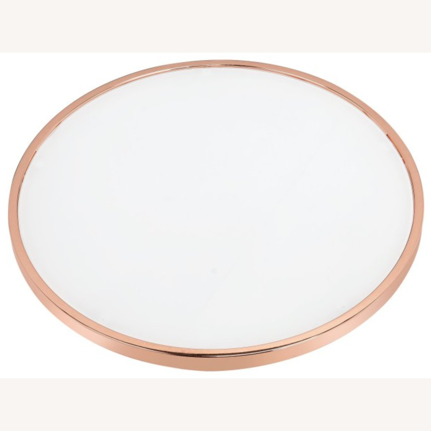 Hayneedle Frosted Glass Copper Coffee Table - image-3