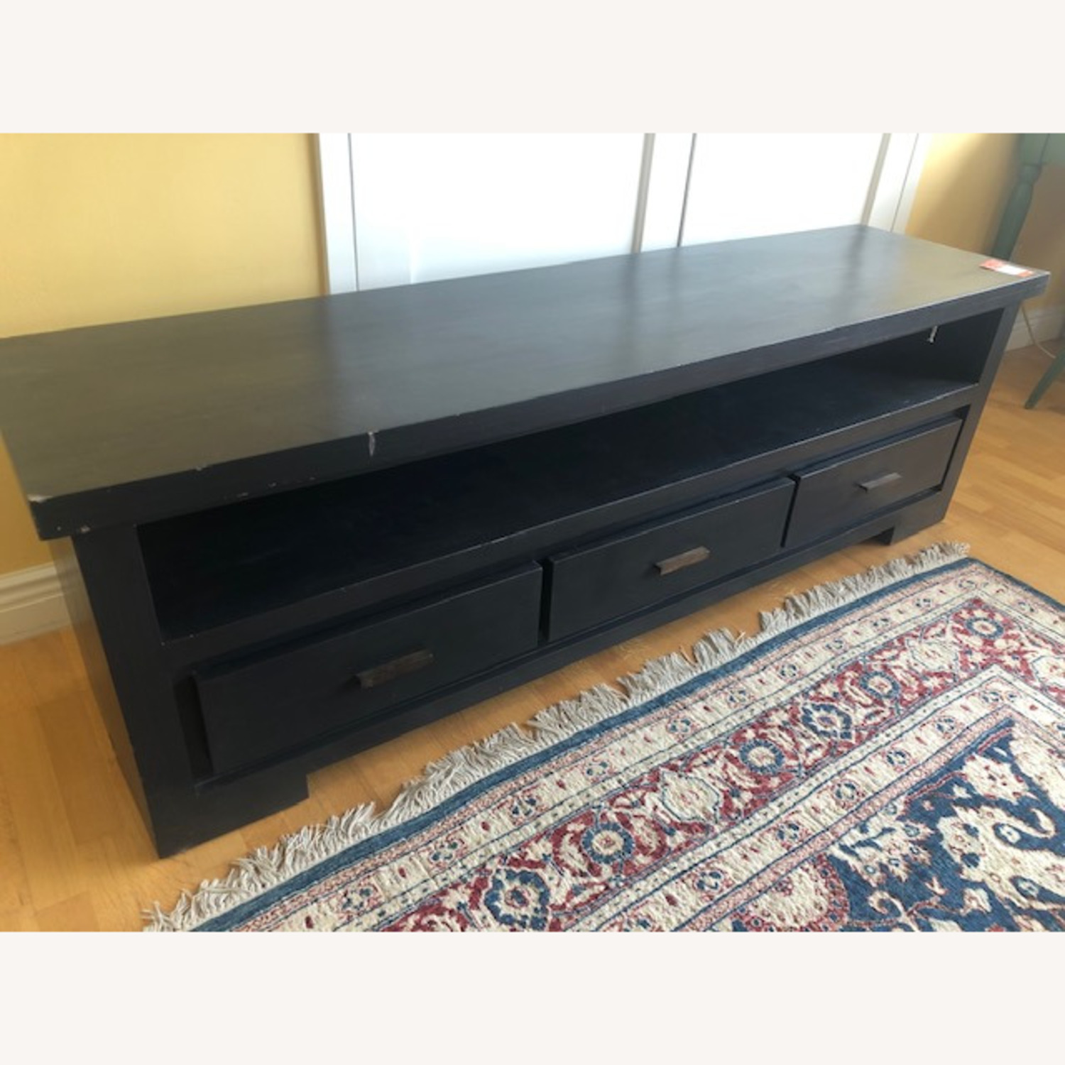 Nadeau Solid Wood Black TV Stand - image-3