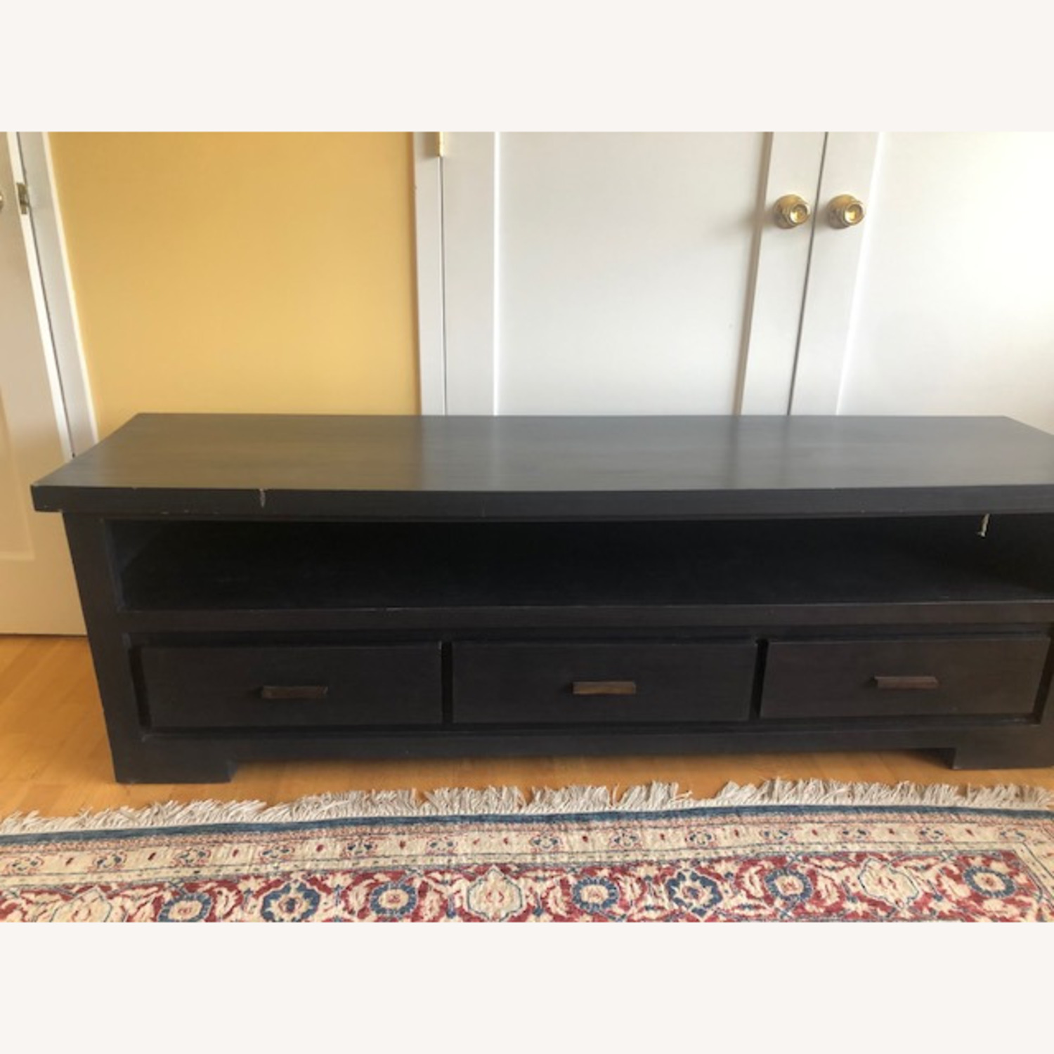 Nadeau Solid Wood Black TV Stand - image-4