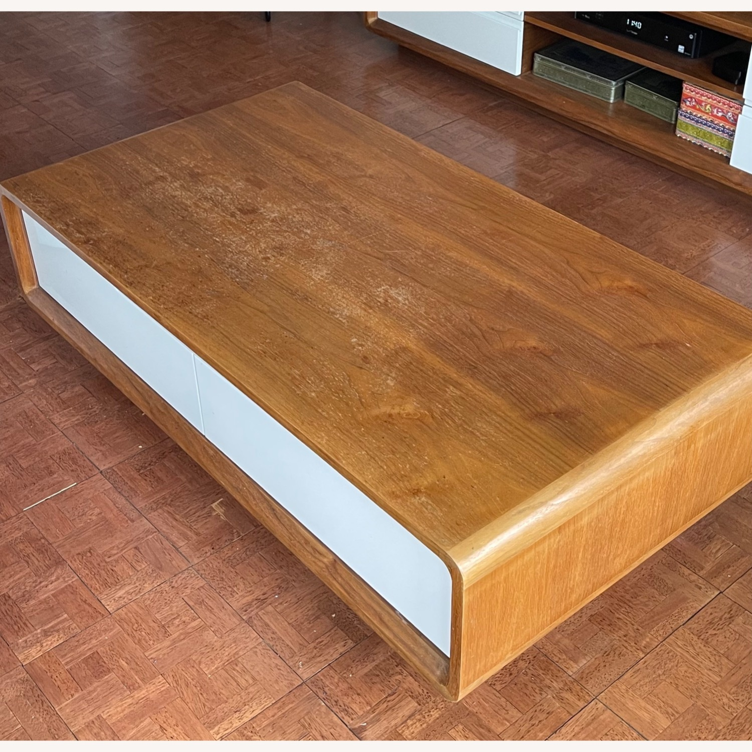 Design Art Deco Coffee Table with Four Drawers - image-1