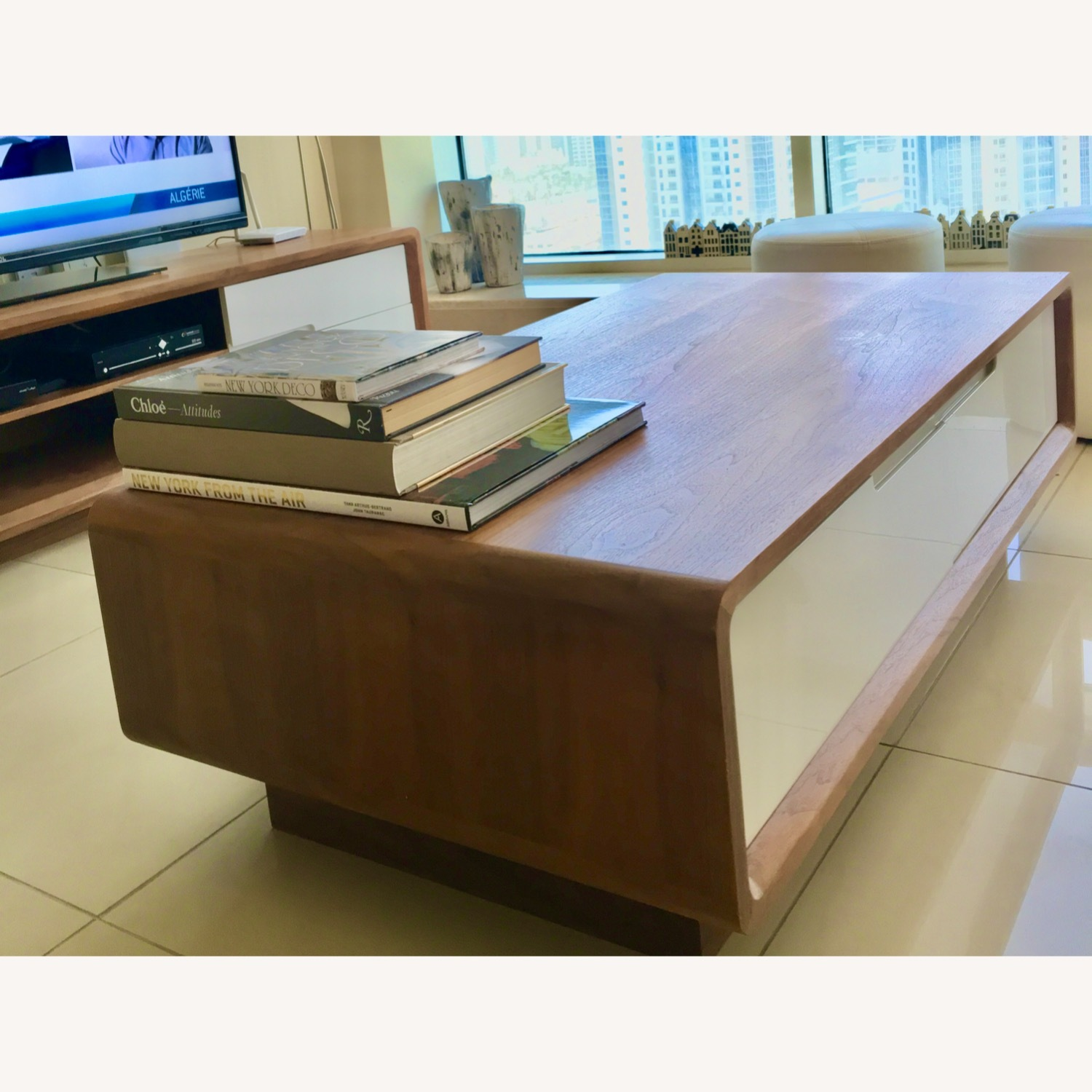 Design Art Deco Coffee Table with Four Drawers - image-0