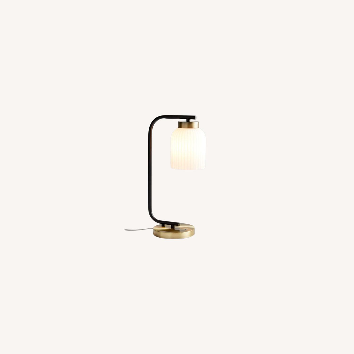 West Elm Suspended Glass Table Lamp - image-0