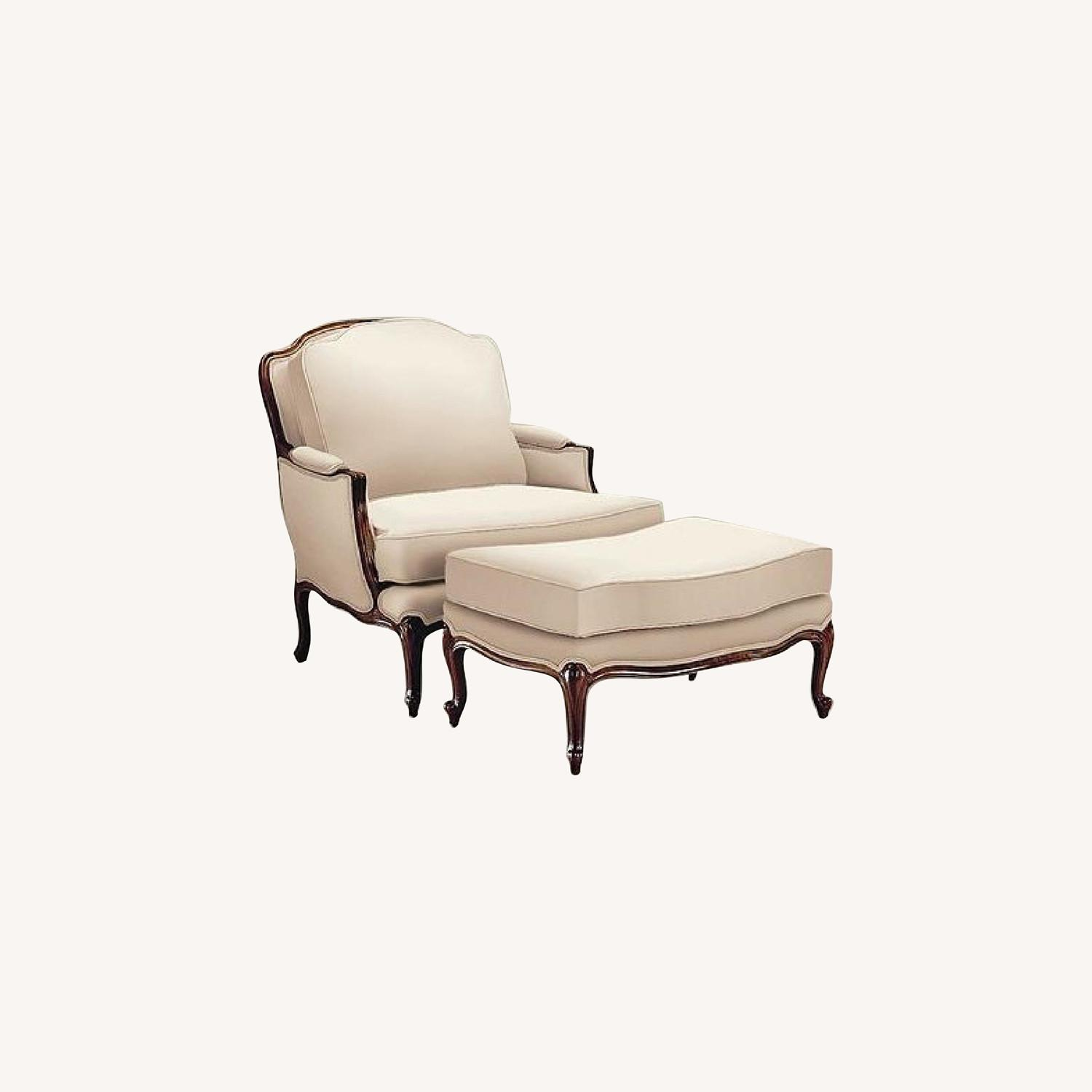Ethan Allen Versailles Chair and Ottoman - image-0