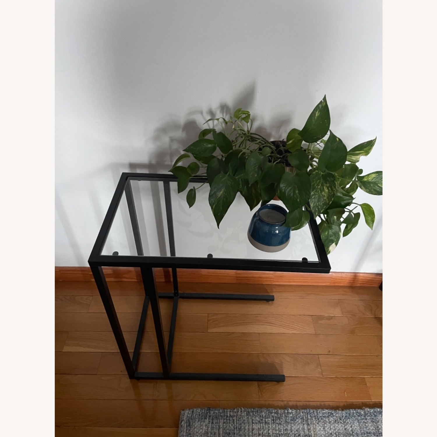 2 x Black Frame and Glass Side Tables - image-5