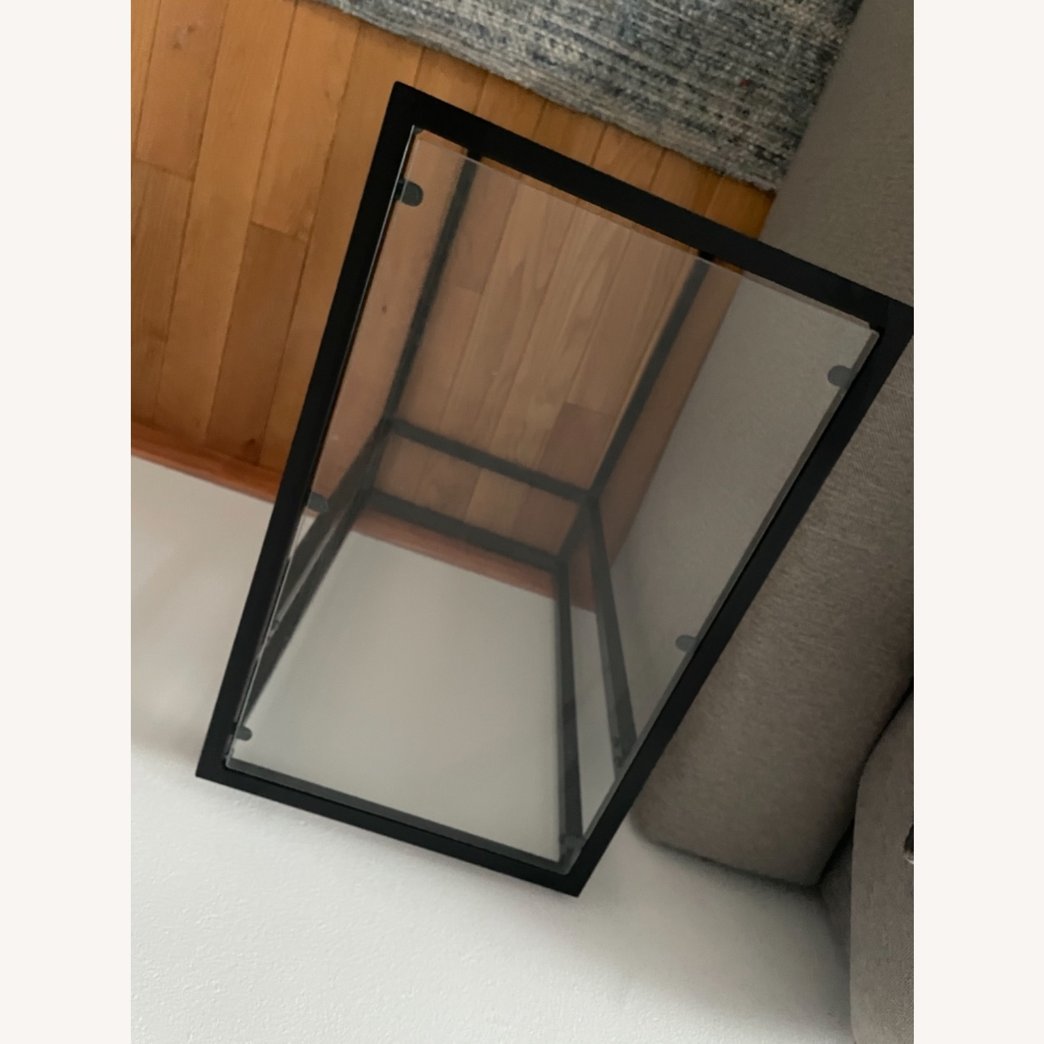 2 x Black Frame and Glass Side Tables - image-7