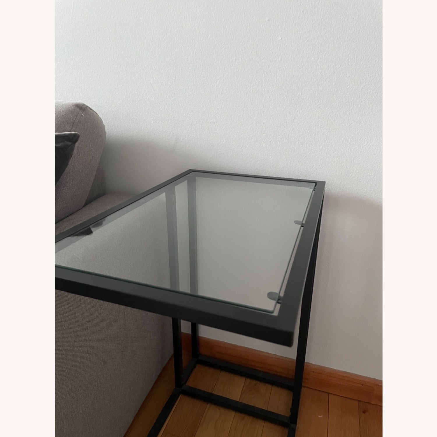 2 x Black Frame and Glass Side Tables - image-4