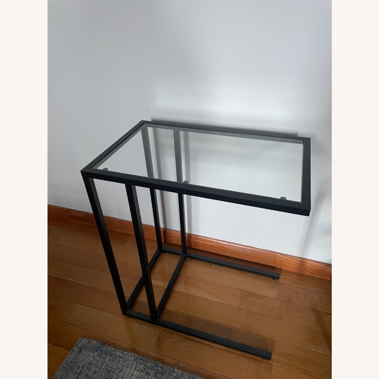 2 x Black Frame and Glass Side Tables - image-9