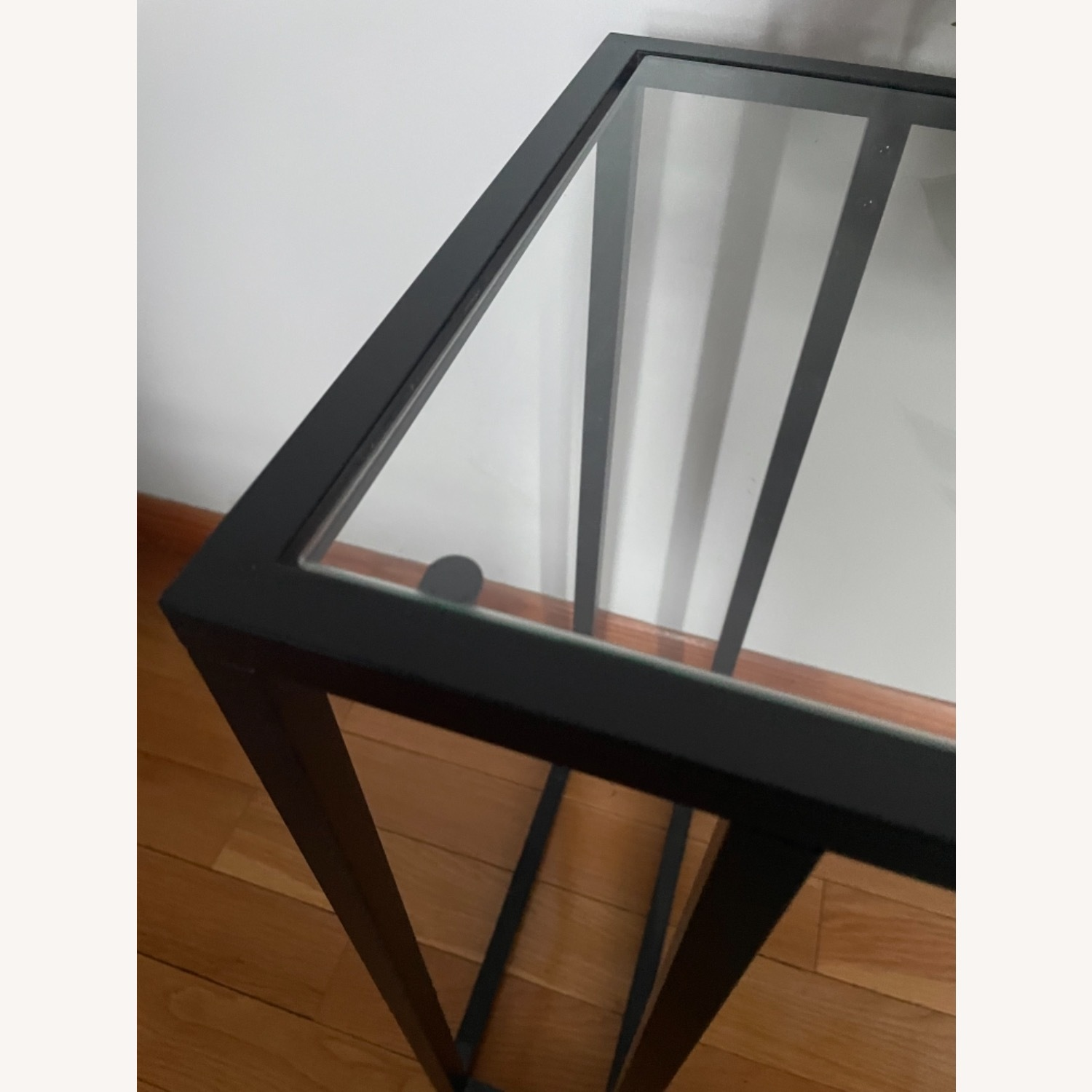 2 x Black Frame and Glass Side Tables - image-8