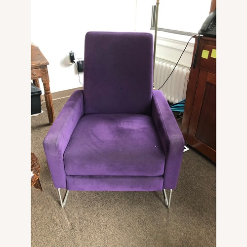 Used Design Within Reach Flight Recliner Purple for sale on AptDeco
