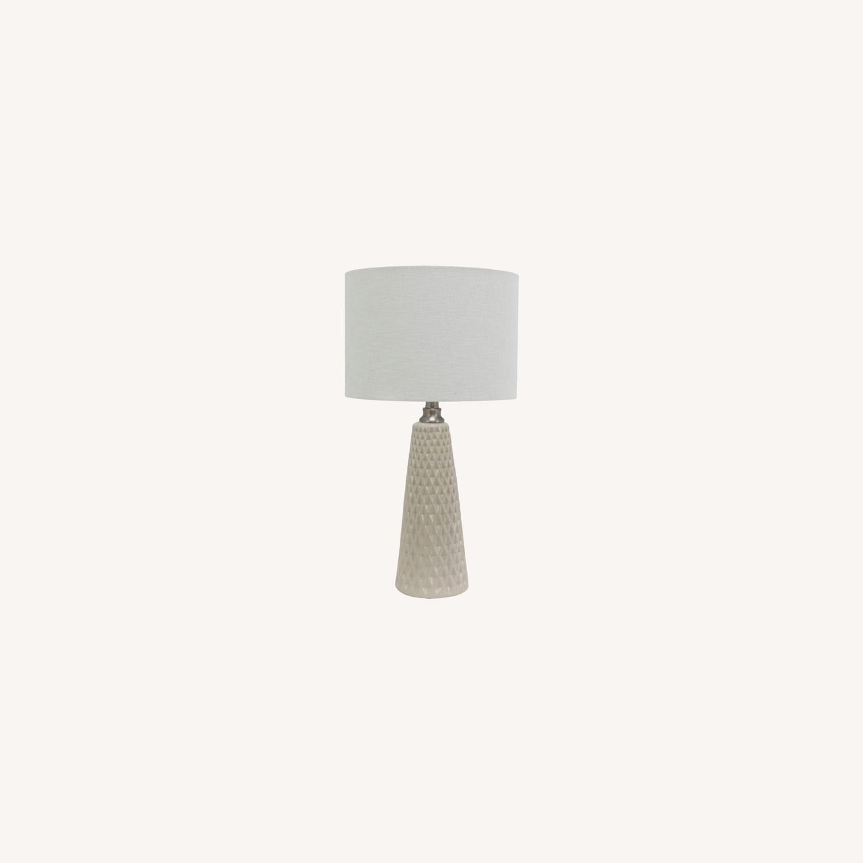 Modern Ceramic Desk Table Lamp Set of 2 - image-0