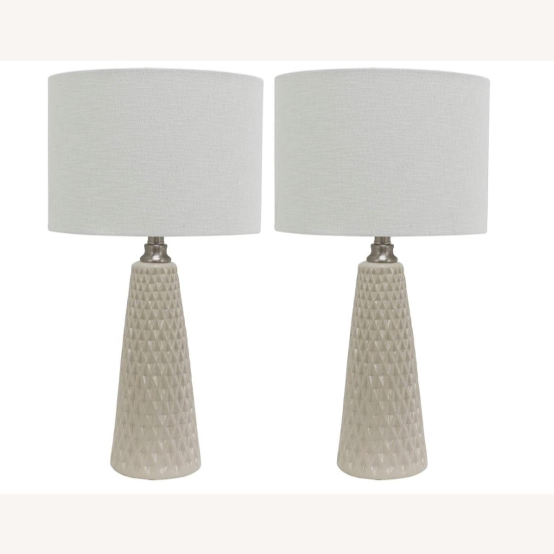 Modern Ceramic Desk Table Lamp Set of 2 - image-1