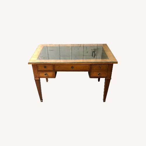 Used Antique Wooden Desk with Drawers for sale on AptDeco