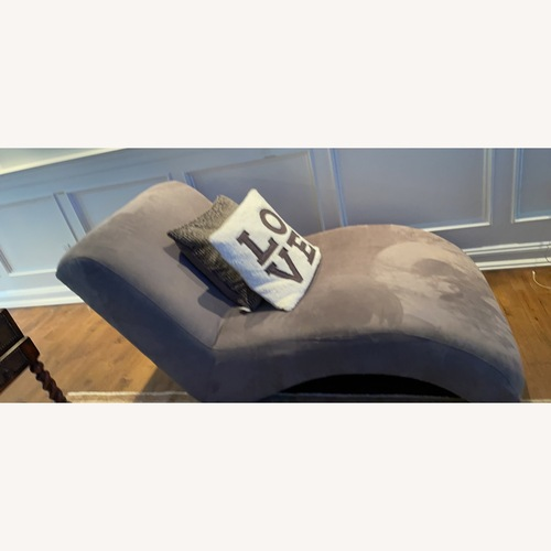 Used Klaussner Furniture Chaise Lounger Ultra suede for sale on AptDeco