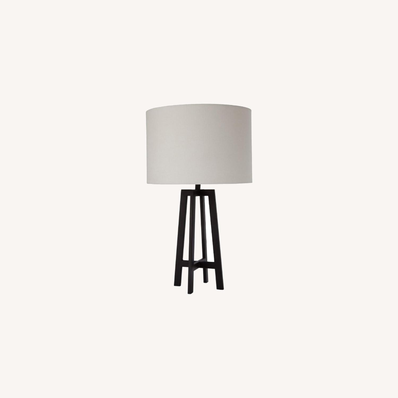 Mid Century Modern Black Metal Desk Table Lamp - image-0
