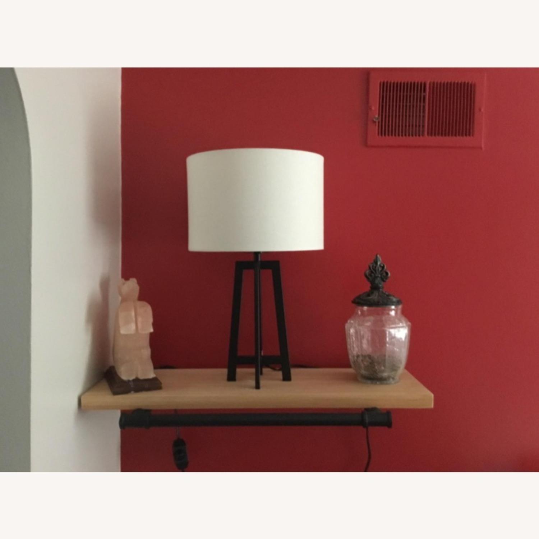 Mid Century Modern Black Metal Desk Table Lamp - image-4