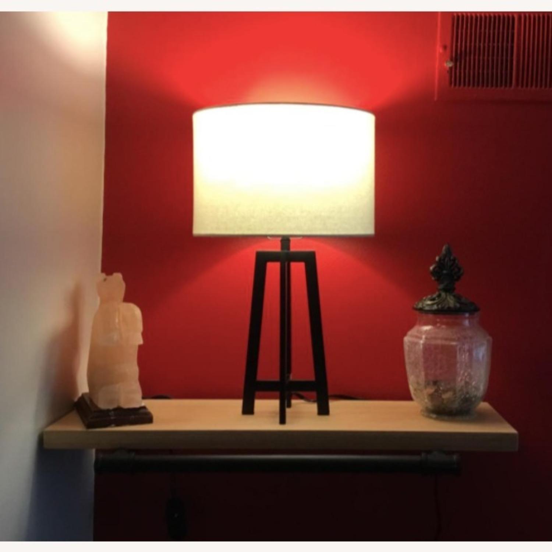 Mid Century Modern Black Metal Desk Table Lamp - image-3