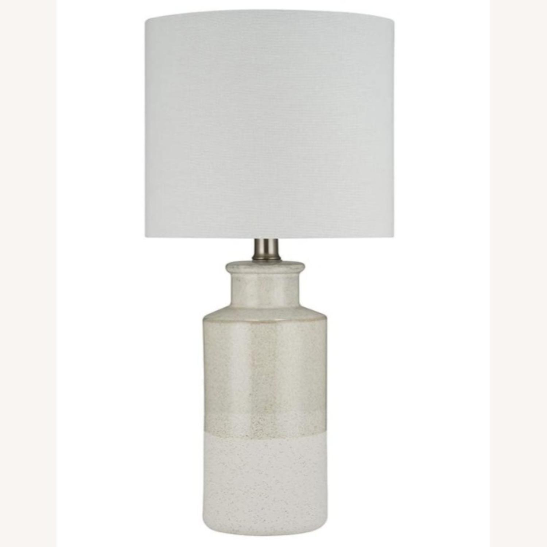 Modern Beige Ceramic Desk Table Lamp - image-1