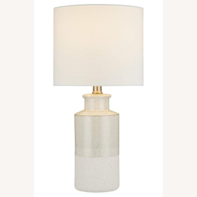Modern Beige Ceramic Desk Table Lamp - image-2
