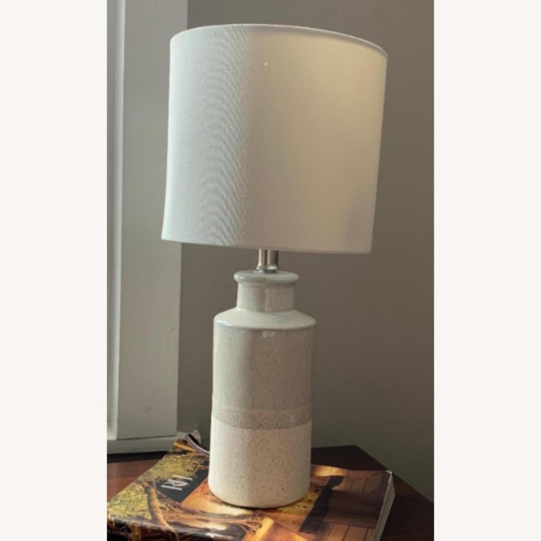 Modern Beige Ceramic Desk Table Lamp - image-4
