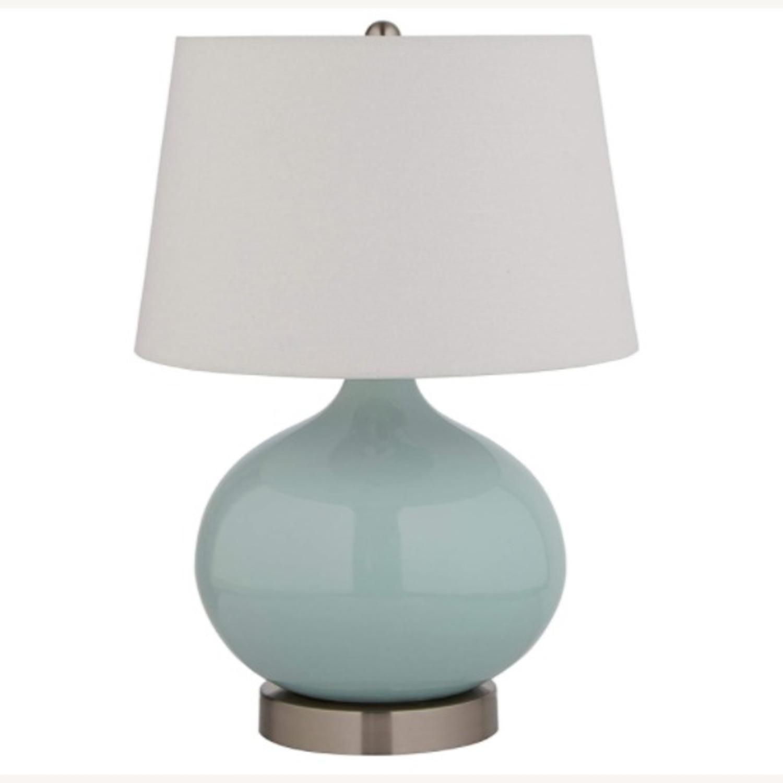 Modern Blue Ceramic Office Table Desk Lamp - image-1