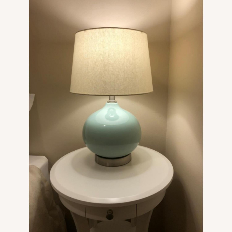 Modern Blue Ceramic Office Table Desk Lamp - image-3