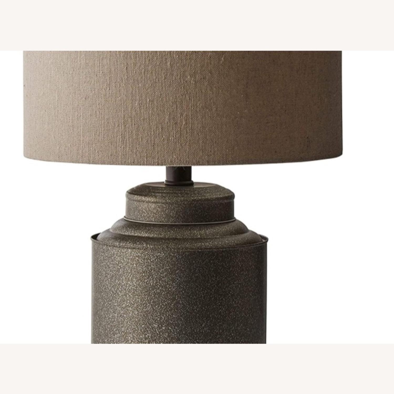 Industrial Dark Grey Beige Metal Desk Table Lamp - image-2