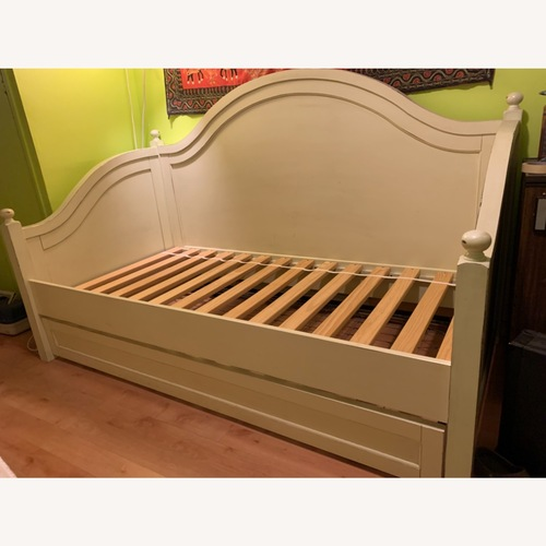 Used Pottery Barn Charlotte Solid Wood Daybed with Trundle for sale on AptDeco