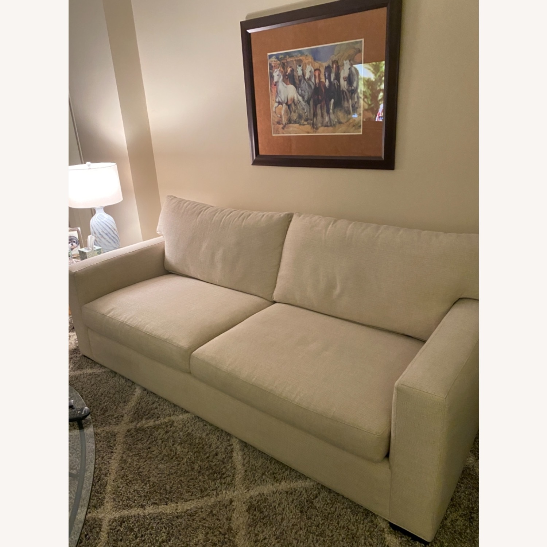 Crate and Barrel Sleeper Sofa - image-2