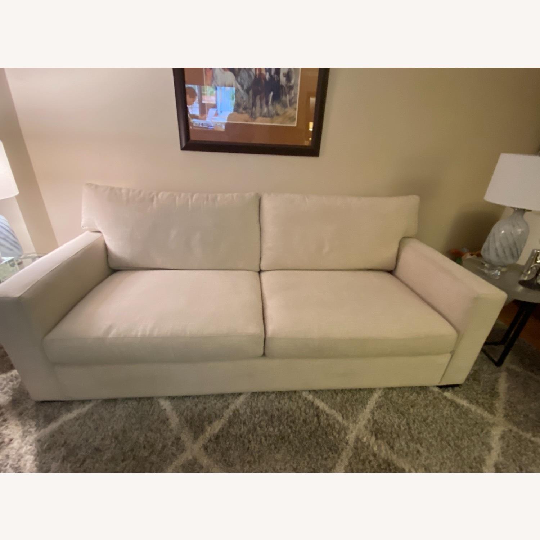 Crate and Barrel Sleeper Sofa - image-1