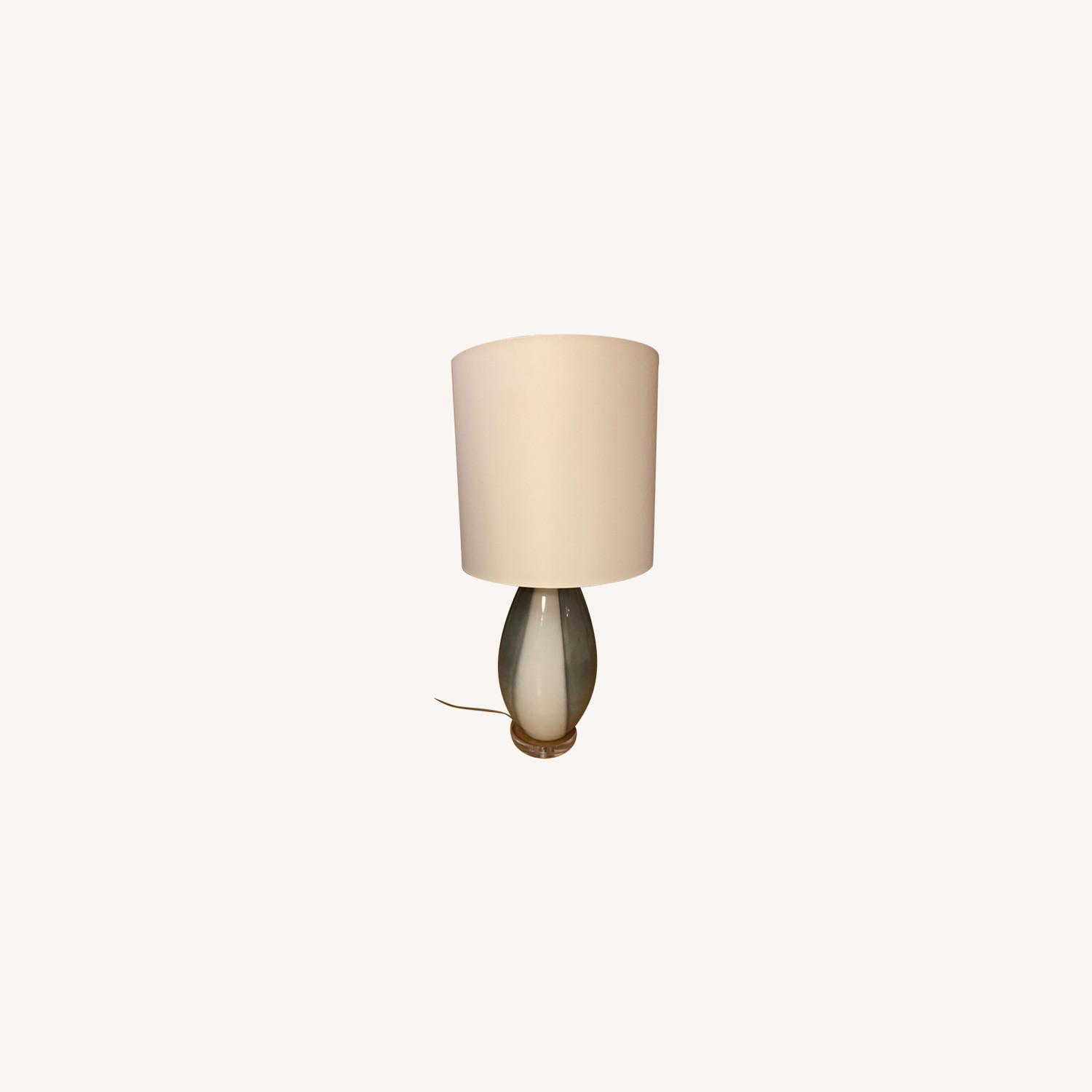 Grey and White Table Lamp - image-0
