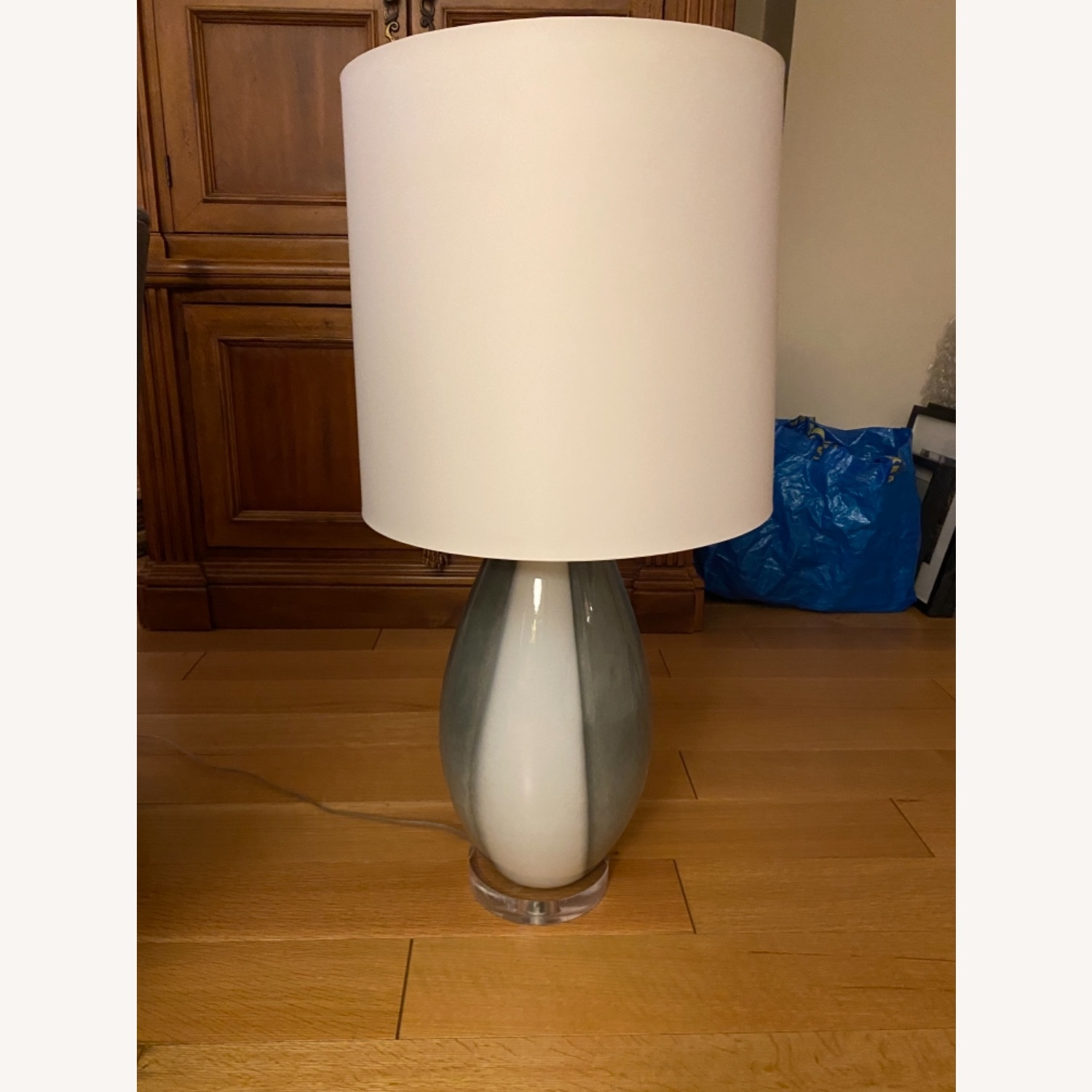Grey and White Table Lamp - image-1