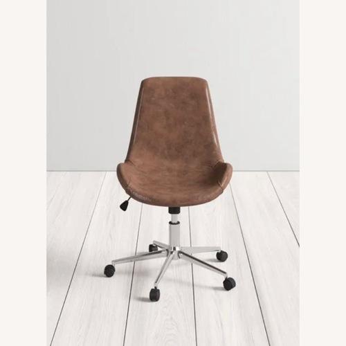 Used AllModern Boylston Leather Task Chair for sale on AptDeco